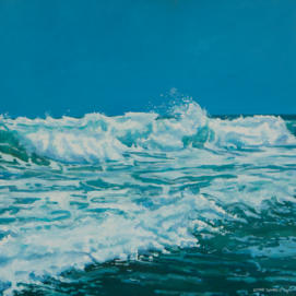 sea scape in oil paint